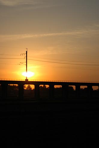 夕焼けのほくほく線