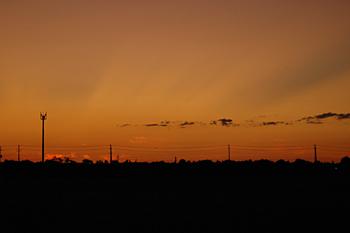 岡森から見る夕焼け