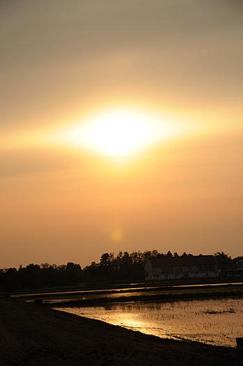 石川の夕陽