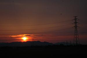 晩秋の夕焼け