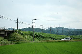 線路土手草刈り
