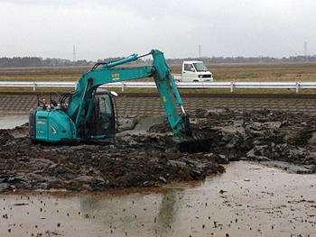 機場の泥さらい